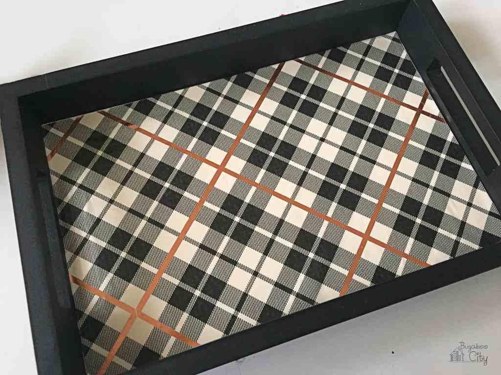 DIY Plaid Sewing Tray