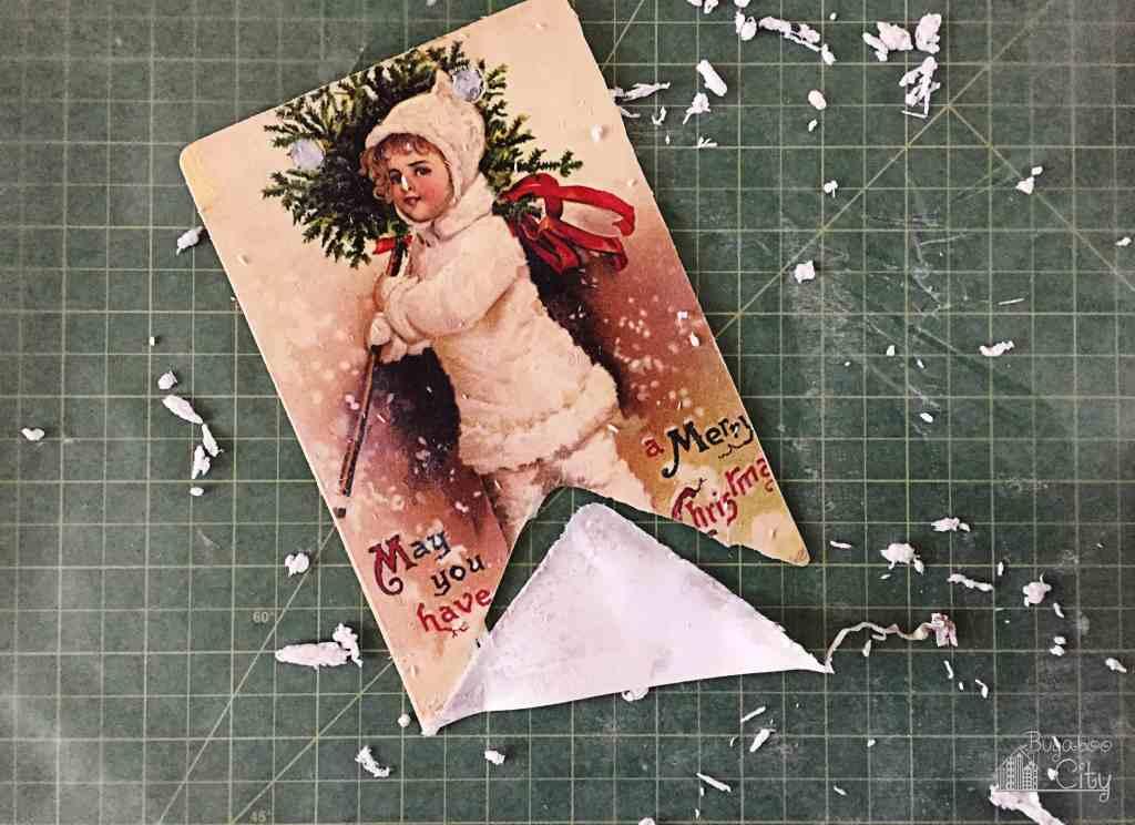 DIY Vintage Christmas Banner 3