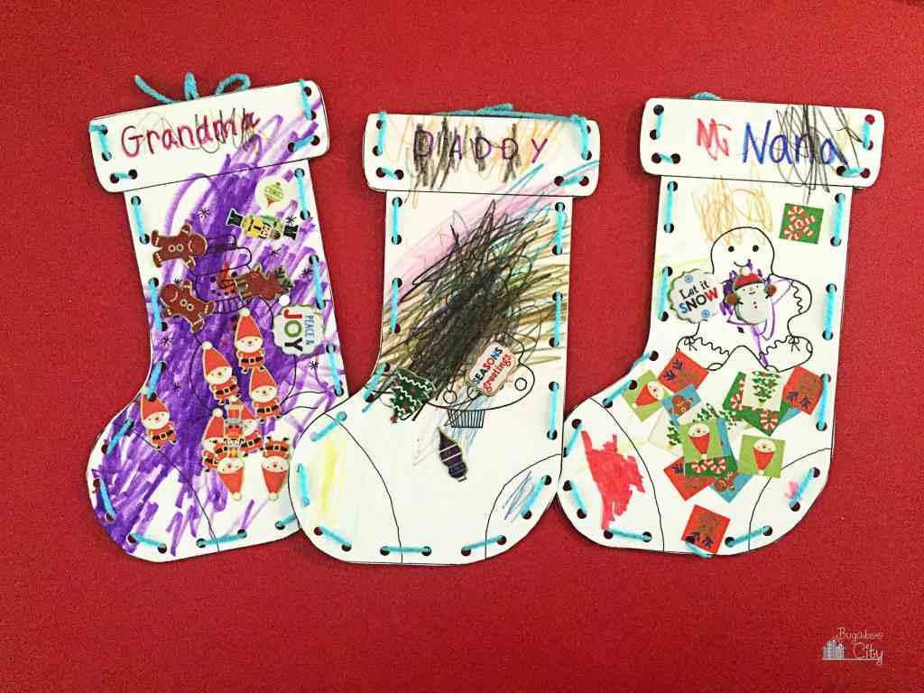 Kid's Christmas Stocking Craft 8