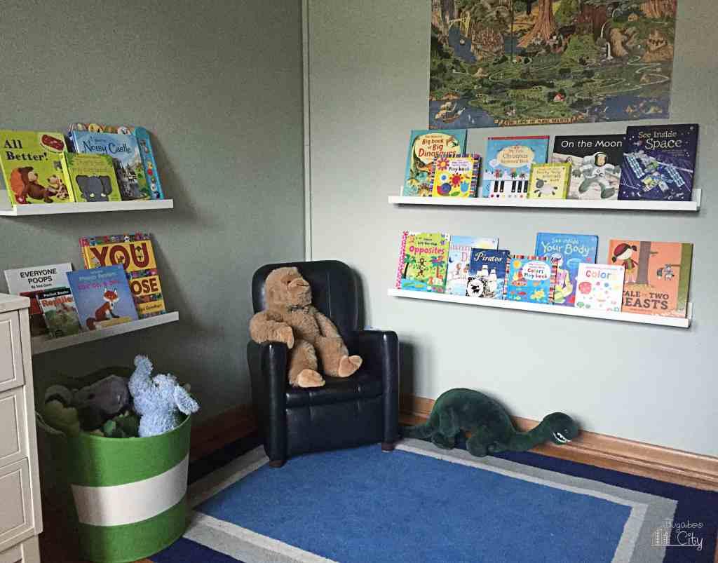 Bugaboo's Big Boy Room Book Nook in progress