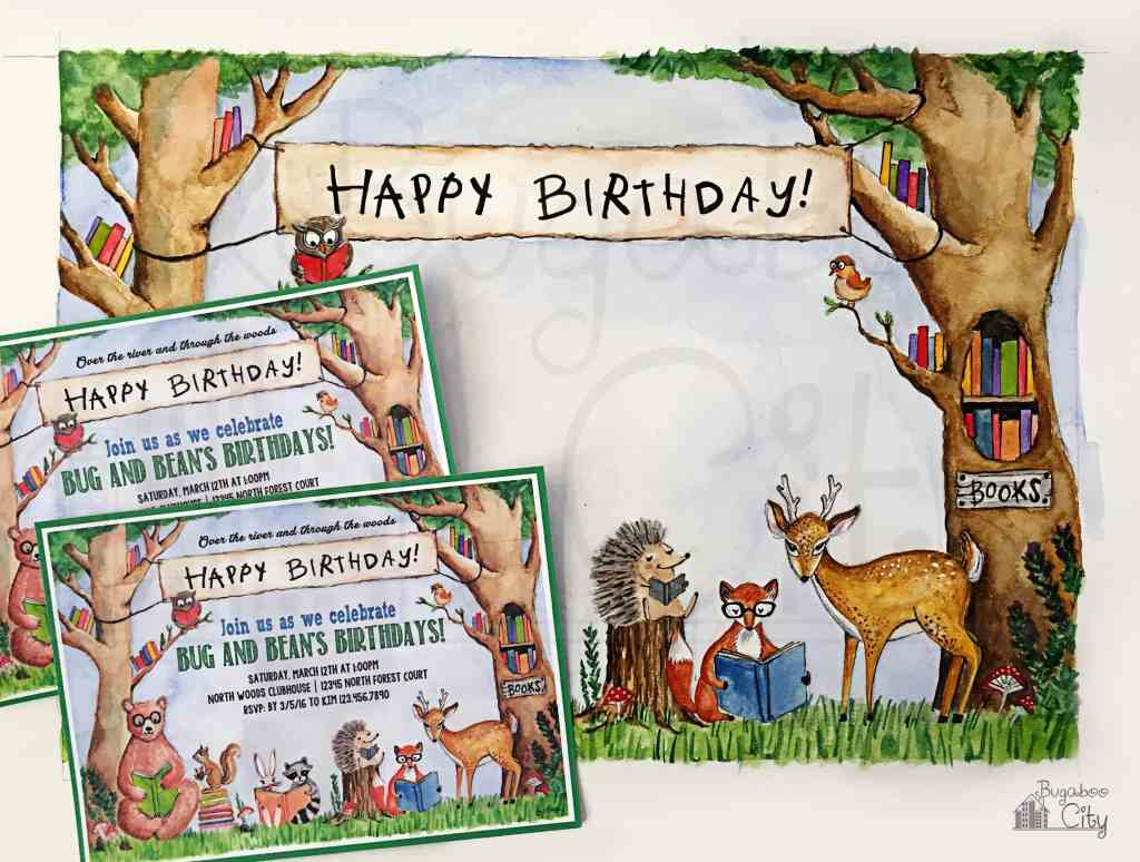 Woodland Birthday Invitation