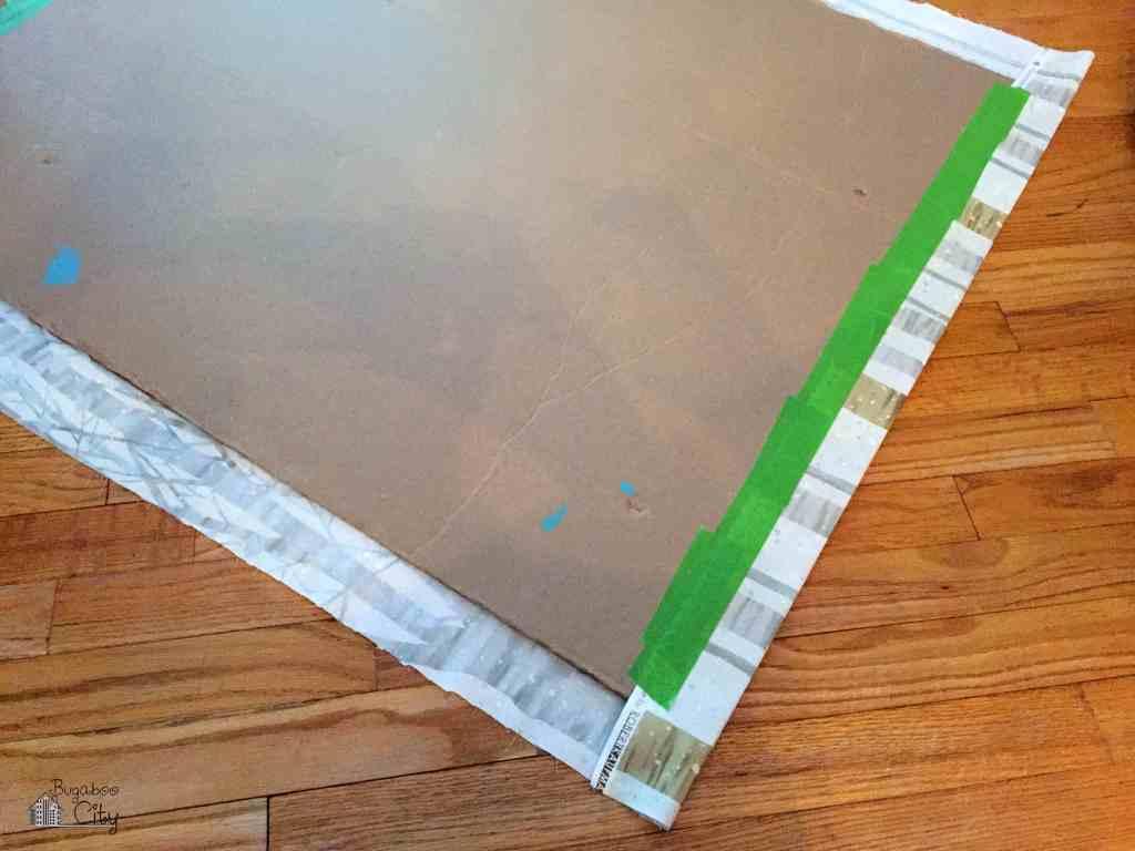 DIY Fabric Food Table Backdrop