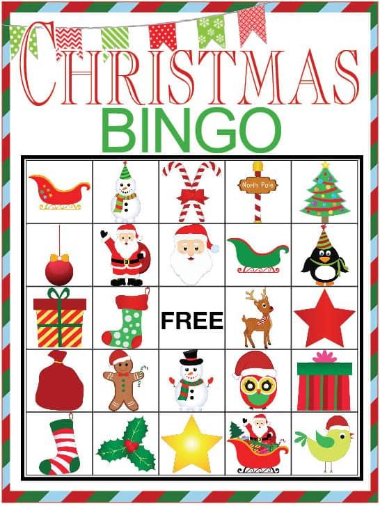 Superb image regarding printable christmas bingo cards