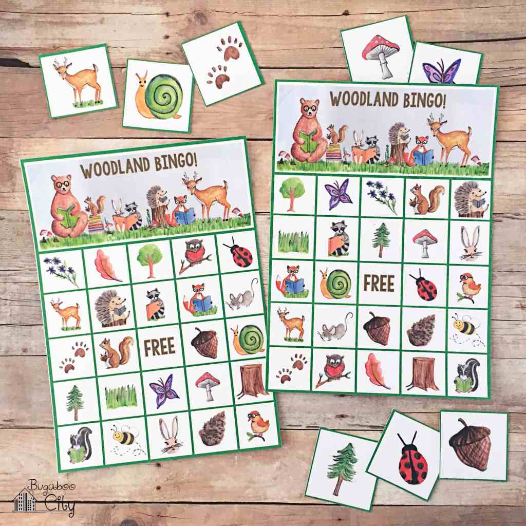 This is an image of Sweet Animal Bingo Printable
