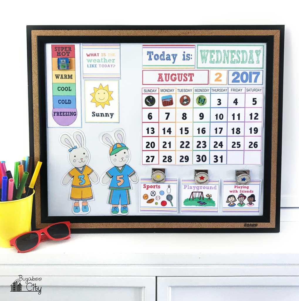 Diy Calendar Numbers : Diy children s calendar with free printables bugaboocity
