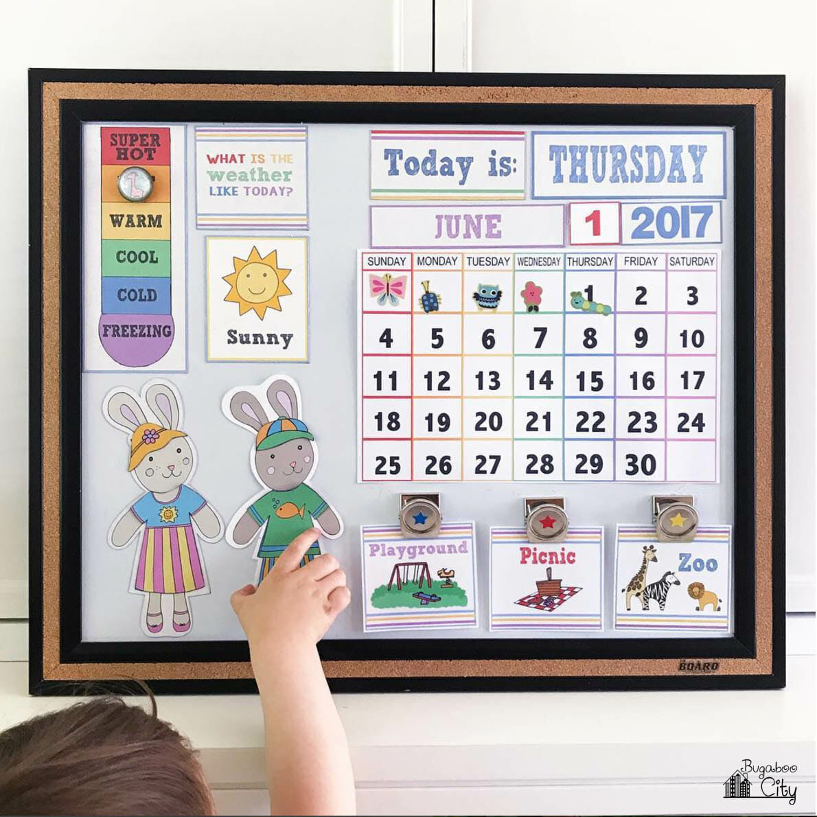 Kids Calendar With Activity Stickers : Diy children s calendar with free printables bugaboocity