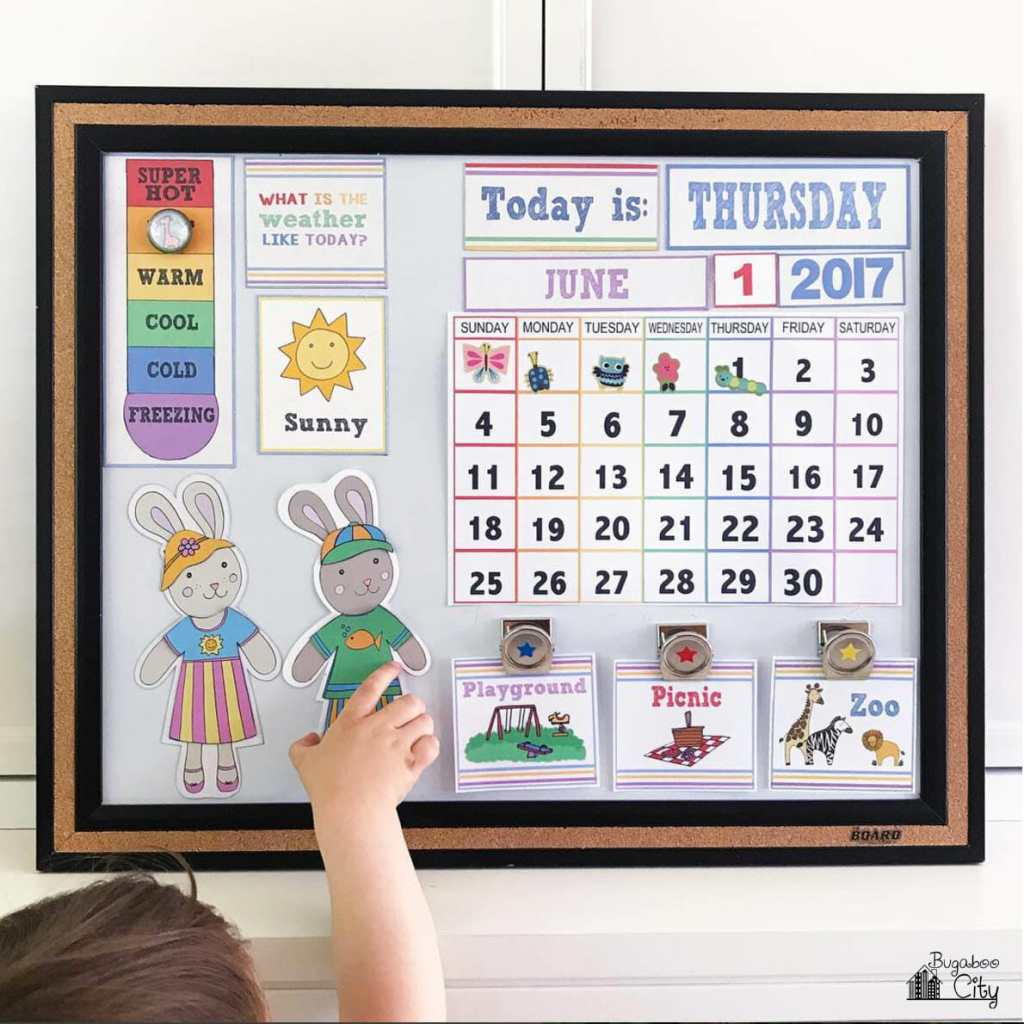 Diy Year Calendar : Diy children s calendar with free printables bugaboocity
