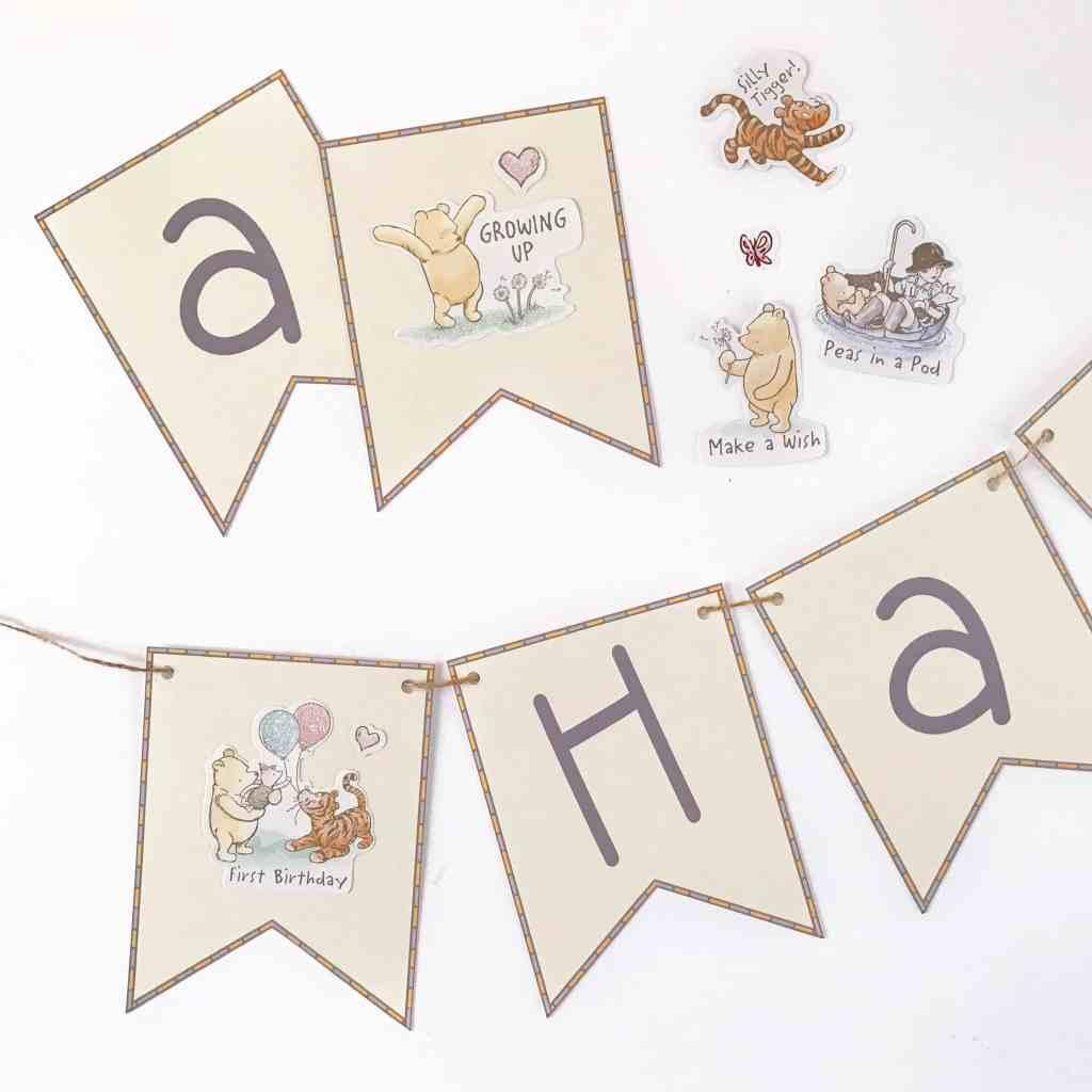 DIY Winnie the Pooh Birthday Banner