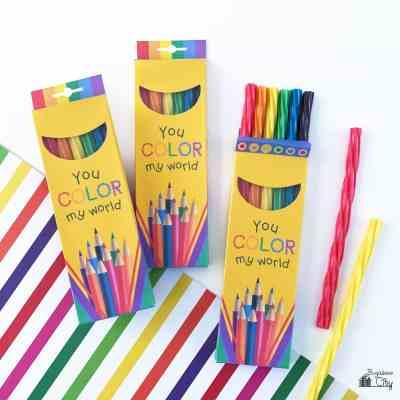 Colored Pencil Twizzlers Treat Box