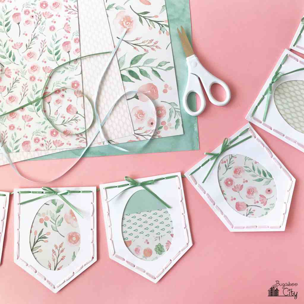 Easter Paper Egg Banner with Free Template