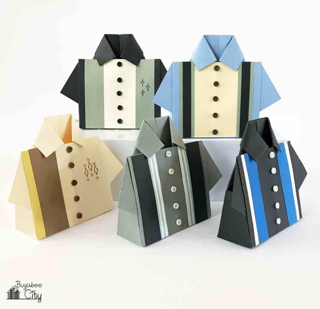 Bowling Shirt Origami Treat Box Bugaboocity