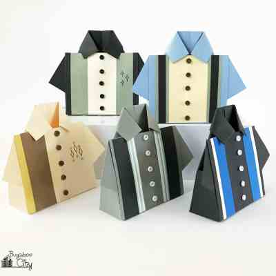 Bowling Shirt Origami Treat Box