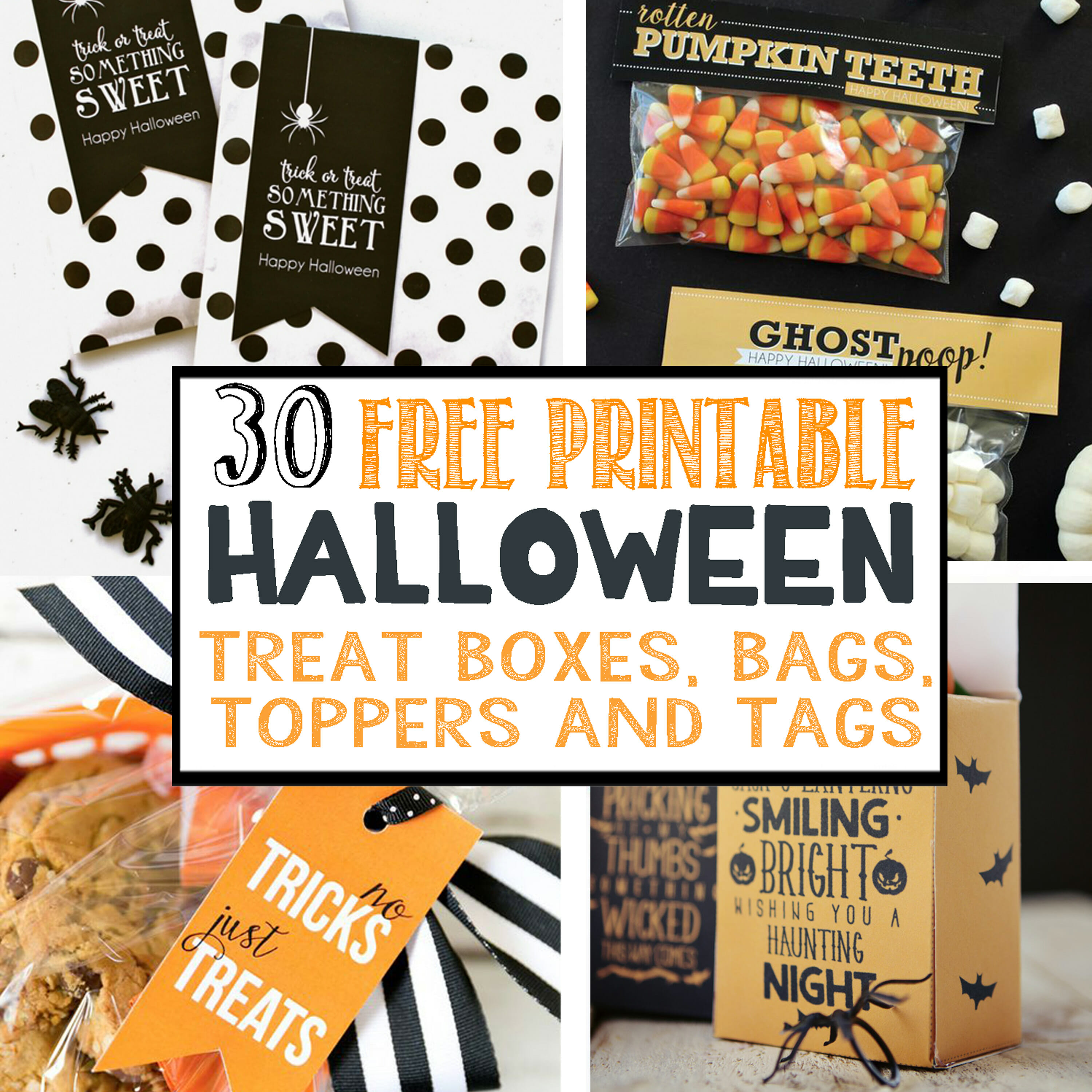 30 Free Printable Halloween Treat Boxes Bags Toppers And Tags