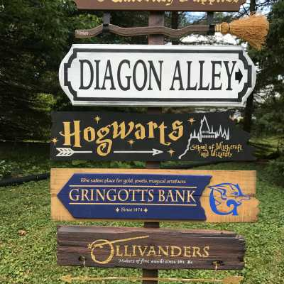 DIY Harry Potter Directional Sign Part 2