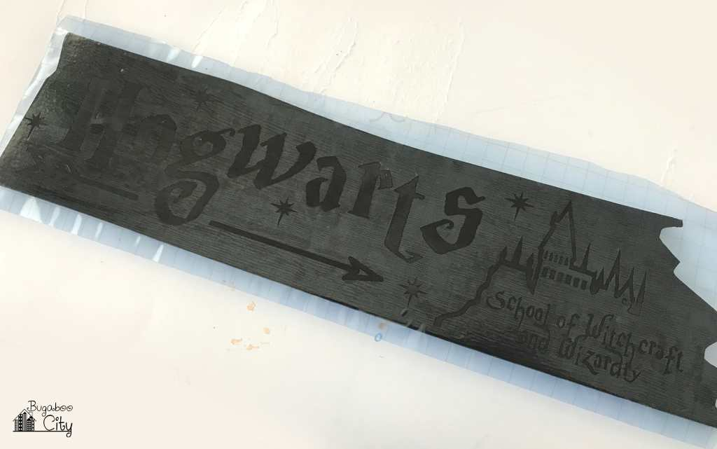 DIY Harry Potter Directional Sign for a Wedding Reception