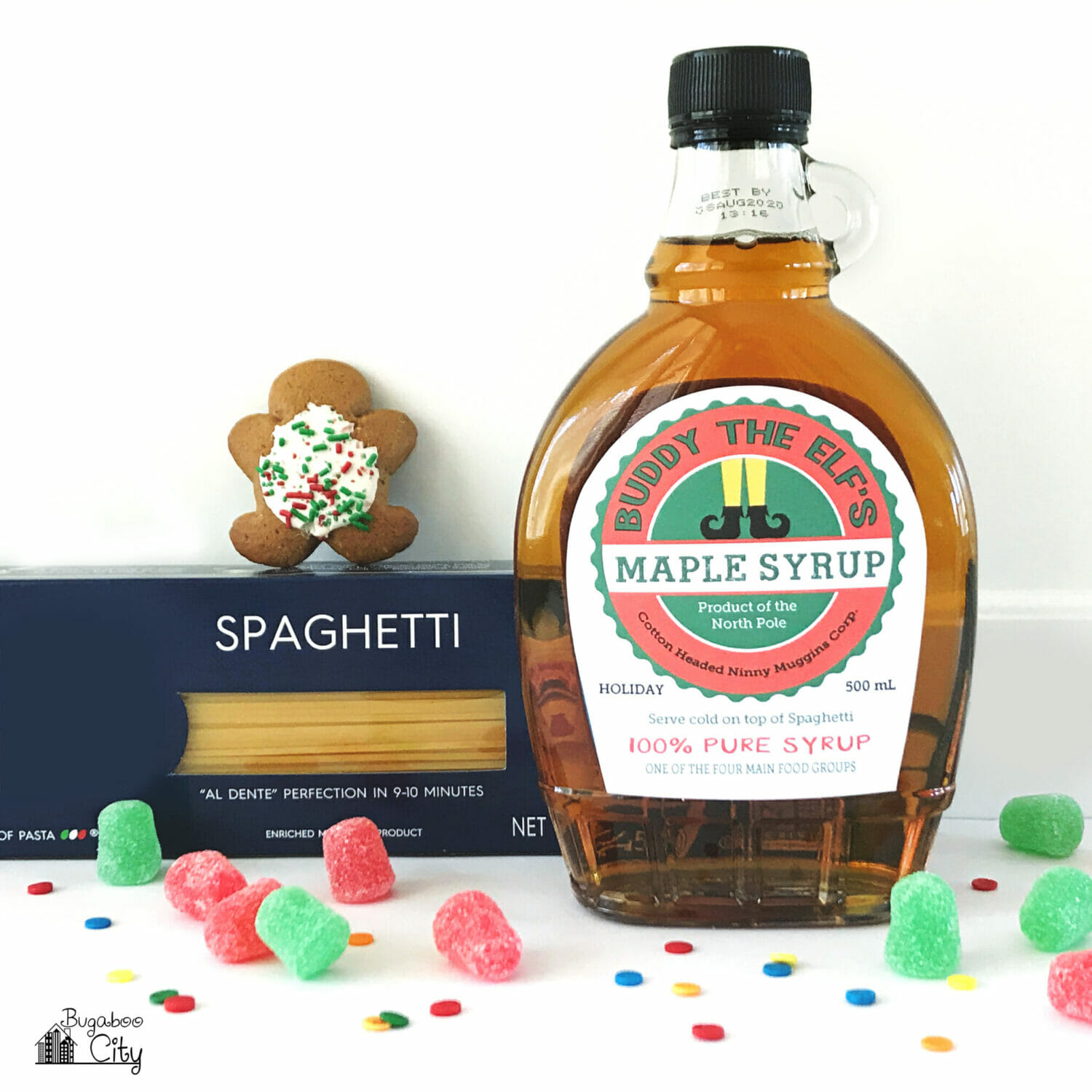 Buddy The Elf Syrup Label