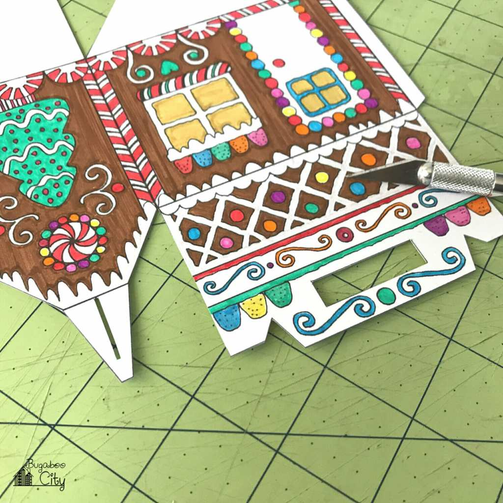 Color-Your-Own - Gingerbread House Box - BugabooCity