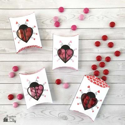 Free Printable Love Bug Pillow Boxes