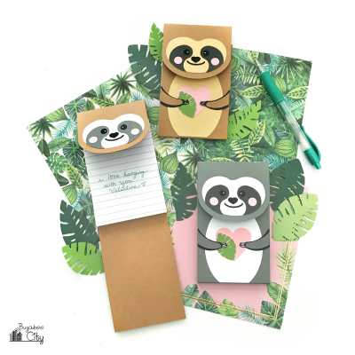 DIY Sloth Notepads for Valentine's Day