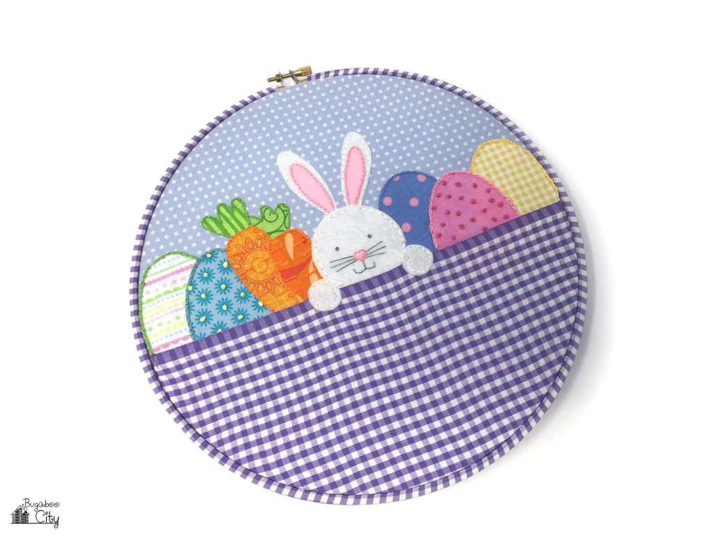 Easter bunny embroidery hoop art free pattern bugaboocity