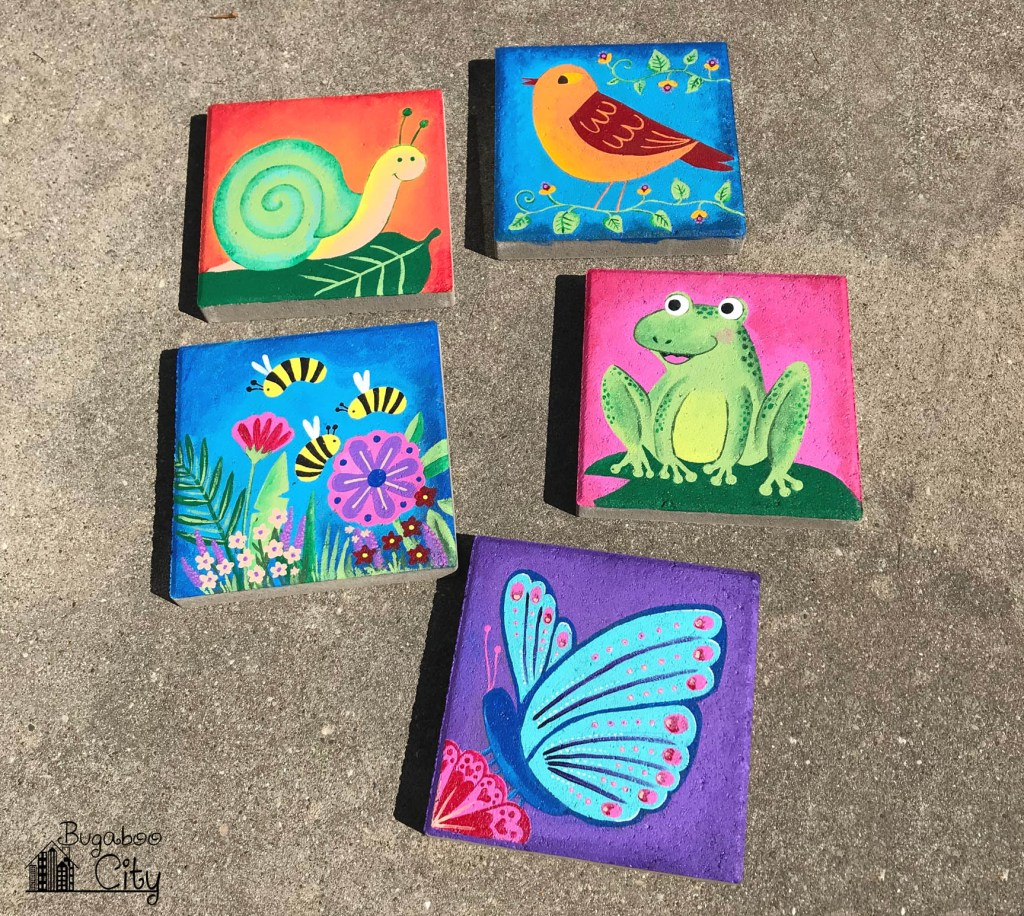 DIY Hand Painted Garden Stepping Stones