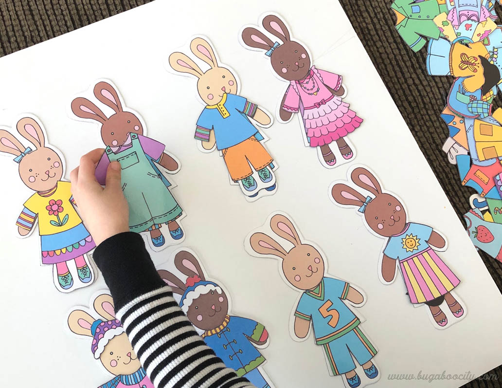 Printable bunny dolls