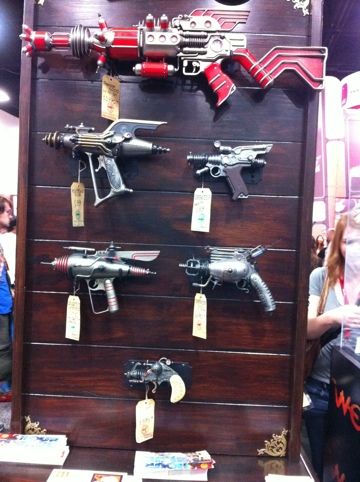 Love those ray guns of SDCC