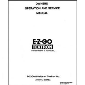 EZGO Marathon Service Manual (Fits 19891993)
