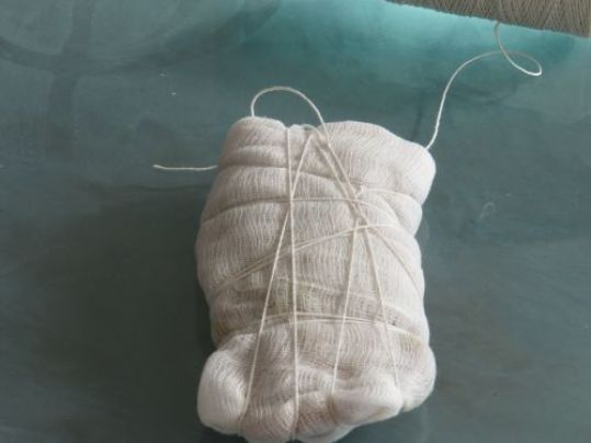 Garlic-Clove-wrapped-in-Cheesecloth