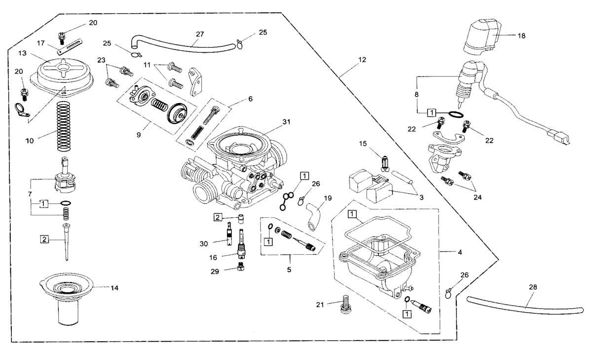 Hammerhead 250ss Super Sport Carburetor Comp