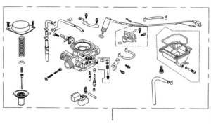 Hammerhead 250cc  Carburetor Assembly  Hammerhead