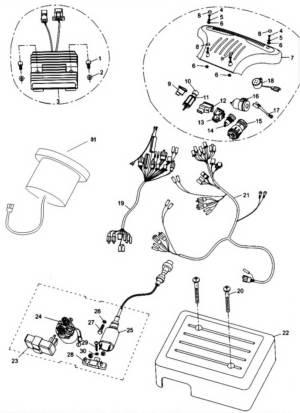 Hammerhead 250SS (Super Sport) Wire Harness  Electrical