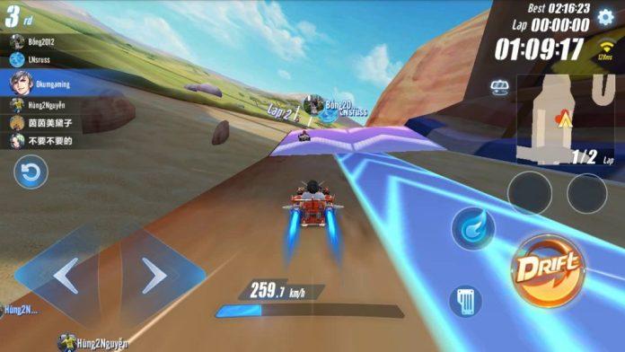 plataformas e atalhos no Guia Speed Drifters