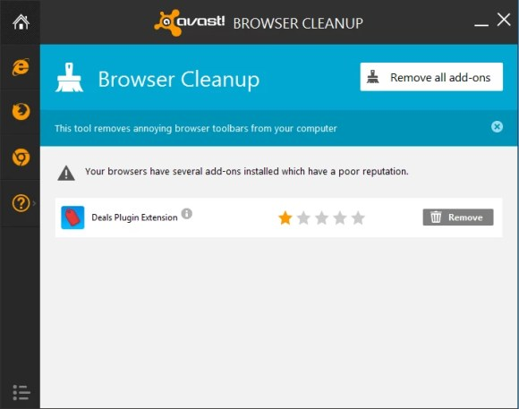 avast browser add ons