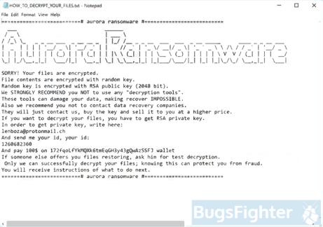 Aurora Ransomware (version 1)