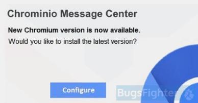 Chrominio Message Center pop-up (wide-spread version)