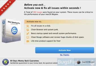 Mac Speedup Pro purchase window