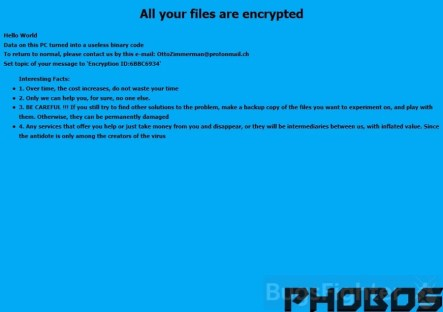 Phobos Ransomware in 2018