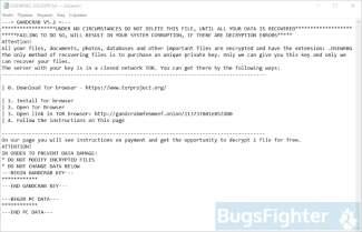 GandCrab v5.2 Ransom Note