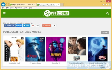 Putlocker.rs pop-up
