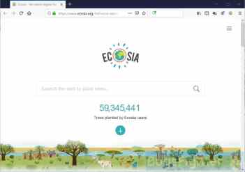 Ecosia.org in Firefox on Windows