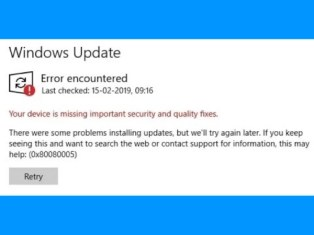 Windows Update Error 0x80080005 in Windows 10