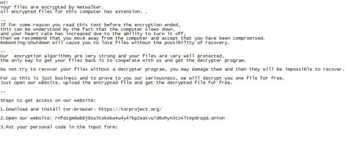 netwalker (mailto) ransomware