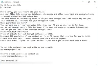 Agho Ransomware (ransom note)