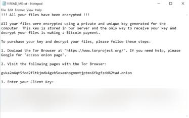 Qlocker Ransomware (ransom note)