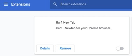 Bar1 New Tab extension