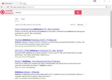 Super-search.org hijacker
