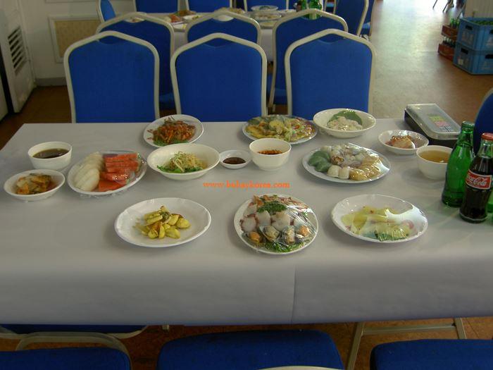 Korean wedding buffet