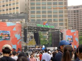 The stage at Hi Seoul Festival