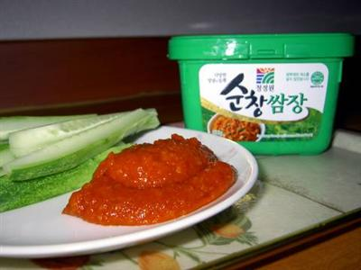 cucumber with ssamjang